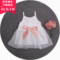 Dress Light blue. White. Pink female Other / other 66cm, 74cm, 73cm, 80cm, 80cm, 86cm, 85CM, 92cm, 90cm, 98cm Other 100% summer Skirt / vest Splicing style Class A