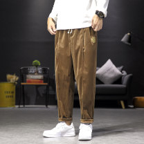 Casual pants Others Youth fashion Dark brown, black, grey M (95-120 Jin), l (120-135 Jin), XL (135-150 Jin), 2XL (150-170 Jin), 3XL (170-185 Jin), 4XL (185-200 Jin), 5XL (200-225 Jin) routine Ninth pants Other leisure easy Micro bomb youth tide 2020 middle-waisted Little feet Haren pants washing
