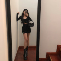 skirt Spring 2020 S,M,L black 18-24 years old Other / other