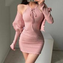 Fashion suit Autumn 2020 XS,S,M Purple, khaki, black, white, pink 18-25 years old