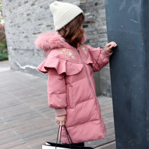 Cotton padded jacket female No detachable cap other Other / other Off white, pink, light grey 110cm,120cm,130cm,140cm,150cm,160cm thickening Zipper shirt Korean version There are models in the real shooting Broken flowers other Class C other Other 100% Cotton liner Other 100% Chinese Mainland
