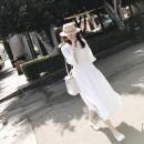 Sports dress 46vd73Y female Auden white S M L XL Summer 2020 three quarter sleeve V-neck