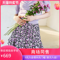 skirt Summer 2021 S M L XL Short skirt commute Natural waist Decor 30-34 years old More than 95% Hong beiti polyester fiber Ol style Polyester 97.3% polyurethane elastic fiber (spandex) 2.7% Same model in shopping mall (sold online and offline)