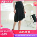 skirt Summer 2021 S M L XL black Mid length dress Versatile High waist Suit skirt Solid color 30-34 years old Q1Q2001 More than 95% Hong beiti polyester fiber Polyester 100% Same model in shopping mall (sold online and offline)