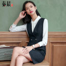 Professional dress suit S M L XL XXL XXXL 4XL 5XL Autumn of 2018 Long sleeves shirt Suit skirt 25-35 years old See sunny / Qin Chen Polyester 68% viscose 32% Pure e-commerce (online only) 51% (inclusive) - 70% (inclusive)