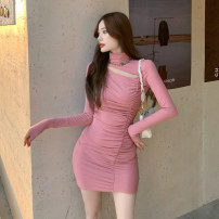 Dress Winter 2020 Pink, black Average size