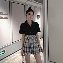 Fashion suit Summer 2020 Average size Shirt, plaid pants s, plaid pants M 18-25 years old 81% (inclusive) - 90% (inclusive)