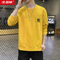 Sweater Fashion City Beijirog / Arctic velvet Solid color Socket routine Crew neck autumn Slim fit leisure time youth tide routine Cotton 95% flax 5% cotton Embroidery washing More than 95%