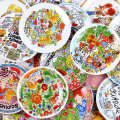 disc pottery Color in glaze European style Flat plate 8 inches 1 Cartoon animation Chinese Mainland Self made pictures Irregular