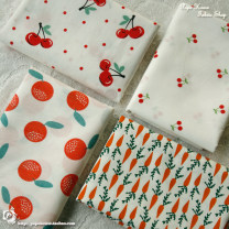 Fabric / fabric / handmade DIY fabric cotton Loose shear piece Plants and flowers printing and dyeing clothing Countryside 100%
