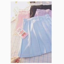 skirt Spring 2017 XS,S,M,L,XL,2XL Light blue, white, purple, black, cherry powder Other / other