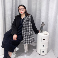 Women's large Winter 2020 Thin black, cream Camel Big M (slightly fat recommended), big L (about 150-165 kg recommended), big XL (about 165-180 kg recommended), big 2XL (about 180-200 kg recommended) woolen coat singleton  commute easy moderate Cardigan Long sleeves Plaid, solid Korean version other