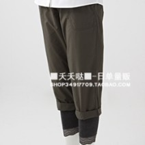 Casual pants Black, khaki, army green Summer 2014 Cropped Trousers Pencil pants Natural waist routine Daily list cotton