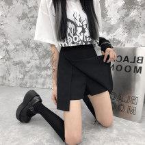 skirt Summer 2021 Big s, big M, big L, big XL, big 2XL, big 3XL, big 4XL black Short skirt commute High waist A-line skirt Solid color Type A 18-24 years old Howe-3225# 81% (inclusive) - 90% (inclusive) Korean version 121g / m ^ 2 (including) - 140g / m ^ 2 (including)