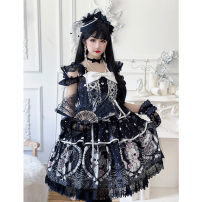 Fashion suit Autumn 2020 Xs, s, m, mesh blouse, bow tie, headband, KC Black, grayish white Other / other 81% (inclusive) - 90% (inclusive)