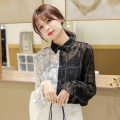 shirt Picture color (sling) S,M,L,XL,2XL Spring 2021 other 96% and above Long sleeves commute Regular Polo collar other routine Dot 18-24 years old Straight cylinder Korean version Y