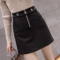 skirt Autumn 2020 S,M,L,XL black Short skirt commute High waist A-line skirt Solid color Type A 18-24 years old XU1999 31% (inclusive) - 50% (inclusive) other other