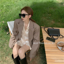 shirt One size fits all, s, m, l Autumn 2020 other 51% (inclusive) - 70% (inclusive) Long sleeves commute Medium length other Single row multi button shirt sleeve Solid color 18-24 years old Straight cylinder Korean version