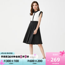 Dress Autumn 2020 Bleached opticwhite 155/76A/XS,160/80A/S,165/84A/M,170/88A/L,175/92A/XL Sleeveless High waist other A-line skirt 25-29 years old Selected / Slyder 41932J513 other