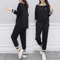 Casual suit Spring 2018 S M L XL XXL White black