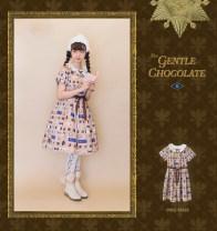 Lolita Dress Cream chocolate S,M,L goods in stock polyester fiber