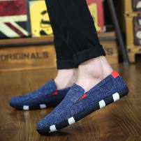 Low top shoes Black, dark blue, light blue 39, 40, 41, 42, 43, 44, standard Sneaker Size, fat foot, big foot Other / other cloth Trochanter Round head Logging shoes cloth leisure time Solid color rubber without wearing make-up PU Autumn 2020