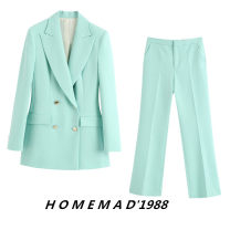 suit Autumn 2020 Top 2402, pants 2403 XS,S,M,L Long sleeves Medium length easy tailored collar double-breasted street routine Solid color 31% (inclusive) - 50% (inclusive) Cellulose acetate