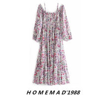 Dress Autumn 2020 Decor 8541 S,M,L longuette singleton  Long sleeves street One word collar Loose waist Decor Socket Big swing bishop sleeve 51% (inclusive) - 70% (inclusive) other cotton Europe and America