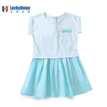 Dress 72909 white / green striped dress 72909 white / red striped dress 72905 pink dress 72905 green dress 72920 Rose Dress 72921 blue dress female Lucky Union 90cm 100cm 110cm 120cm Other 100% summer college Short sleeve stripe other A-line skirt Class A 18 months, 2 years, 3 years, 4 years, 5 years