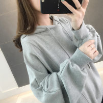 Sweater / sweater Spring of 2019 Average size Long sleeves routine Socket singleton  routine Hood easy commute Bat sleeve Solid color 25-29 years old 96% and above Warm station Korean version other SL005 Pocket tie Other 100% Pure e-commerce (online only)