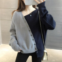 sweater Winter 2020 Average size grey Long sleeves Socket singleton  Regular other 95% and above other Regular commute routine other Straight cylinder Regular wool Keep warm and warm 25-29 years old Warm station WNYZ-MY053 Button Other 100% Pure e-commerce (online only)