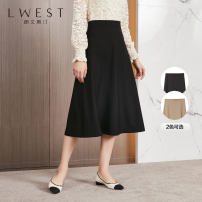 skirt Spring 2021 S M L Black apricot Mid length dress commute High waist A-line skirt Solid color Type A 25-29 years old LDMQ11115078 91% (inclusive) - 95% (inclusive) L. West / longvinstein polyester fiber zipper Polyester 92% polyurethane elastic fiber (spandex) 8% Pure e-commerce (online only)