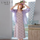 Fashion suit Summer 2020 S M L violet 25-35 years old L. West / longvinstein LDMG02503225-582590 Lyocell 90% polyester 10% Pure e-commerce (online only)