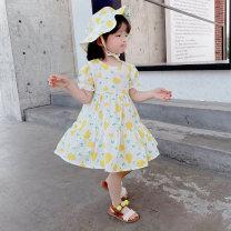 Dress Yellow, orange female Other / other 90cm,100cm,110cm,120cm,130cm Cotton 95% other 5% summer princess Short sleeve other cotton Princess Dress other 18 months, 2 years old, 3 years old, 4 years old, 5 years old, 6 years old Chinese Mainland Zhejiang Province Huzhou City