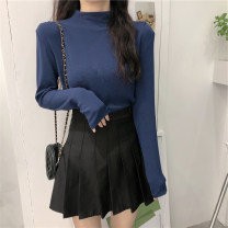 T-shirt 254 ᦇ white 254 ᦇ black 254 ᦇ yellow 254 ᦇ gray 254 ᦇ blue M L XL XXL Autumn 2020 Long sleeves High collar Self cultivation Regular routine commute polyester fiber 86% (inclusive) -95% (inclusive) 18-24 years old Korean version youth Solid color Immortal element 254-7
