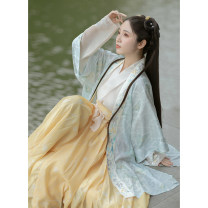 Hanfu 71% (inclusive) - 80% (inclusive) Summer 2020 Apricot color with spot, green printing with spot, yellow pleated skirt with spot, apricot color with 4.30 hair in the fourth batch, green printing with 4.30 hair in the fifth batch, yellow pleated skirt with 4.30 hair in the fifth batch S,M,L,XL