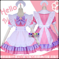 Cosplay women's wear skirt goods in stock Over 14 years old Buy a tail, buy a pair of cat gloves, lovely: pink + blue clothing, gentle: pink + purple clothing, classic: Blue + purple clothing Animation, original, film and television, games L,M,S