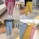 Parent child fashion Yellow, blue, pink, dark grey, pink second batch, yellow second batch, blue second batch, dark grey second batch Women's dress female No.7 Tong Cang 80cm, 90cm, 100cm, 120cm, 130cm, 140cm, 150cm, 110cm (model size), adult s, adult M summer leisure time Thin money Solid color