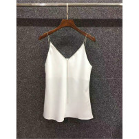 Vest sling Summer 2021 S,M,L,XL singleton  routine Straight cylinder commute camisole Solid color 25-29 years old 51% (inclusive) - 70% (inclusive) polyester fiber backless