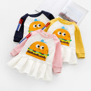 Dress Pink yellow royal blue Zhou dada female 90cm 100cm 110cm 120cm 130cm Other 100% spring and autumn Versatile Long sleeves other Pleats one thousand nine hundred and sixty-five Class B