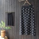 skirt Spring 2021 Single code Black, gray Mid length dress commute High waist A-line skirt Dot Type A 25-29 years old 30% and below knitting yoko girl nylon Korean version