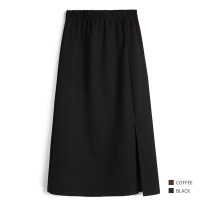 skirt Spring 2021 L, M Night Xi night empty black, charcoal deep cocoa longuette grace High waist A-line skirt Solid color Type A 25-29 years old 7H96 31% (inclusive) - 50% (inclusive) other other