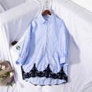 Dress Summer of 2019 Blue and white stripes S, M Mid length dress singleton  World works
