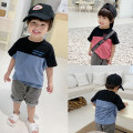 T-shirt Red, blue Chaoma Feifei 80cm, 90cm, 100cm, 110cm, 120cm, 130cm, 140cm, model size: 80 male summer Short sleeve Crew neck Korean version There are models in the real shooting other other 2 years old, 3 years old, 4 years old, 5 years old, 6 years old, 7 years old