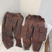 trousers Chaoma Feifei neutral 100cm,110cm,120cm,130cm,140cm Reddish brown (without side stripe), reddish brown (with side stripe) trousers Casual pants 2 years old, 3 years old, 4 years old, 5 years old, 6 years old, 7 years old, 8 years old