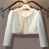 Plain coat Other / other female Unlimited season princess nothing thickening No model in real shooting Solid color other Crew neck Other 100% Class B Three, four, five, six, seven, eight, nine, ten, eleven, twelve White, white (plush lining), lace collar (plush lining) white