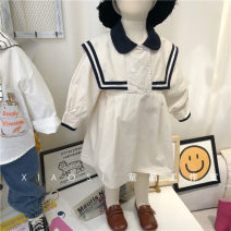 Dress Khaki will deliver in about 1-7 days female Other / other 90cm,100cm,110cm,120cm,130cm,140cm Cotton 100% spring and autumn Korean version Long sleeves Solid color cotton other 2 years old, 7 years old, 3 years old, 5 years old, 6 years old, 18 months old, 4 years old Chinese Mainland