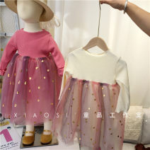 Dress Milky 1-7 days delivery, rose pink 1-7 days delivery female Other / other 90cm,100cm,110cm,120cm,130cm Other 100% spring and autumn princess Long sleeves Solid color cotton Fluffy skirt 18 months, 2 years old, 3 years old, 4 years old, 5 years old, 6 years old, 7 years old