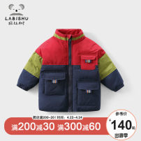 Cotton padded jacket male nothing other Rabbi tree navy blue 80cm,90cm,100cm,110cm,120cm,130cm,140cm thickening Single breasted leisure time No model other other High collar Polyester 100% Polyester 100% Chinese Mainland Zhejiang Province Hangzhou