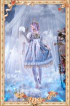 Fashion suit Spring 2020 S,M,L Pink jsk, dark blue jsk, light blue jsk, pink KC, dark blue KC, light blue KC, Flower Pearl Chain brooch, fairy tale brooch infanta